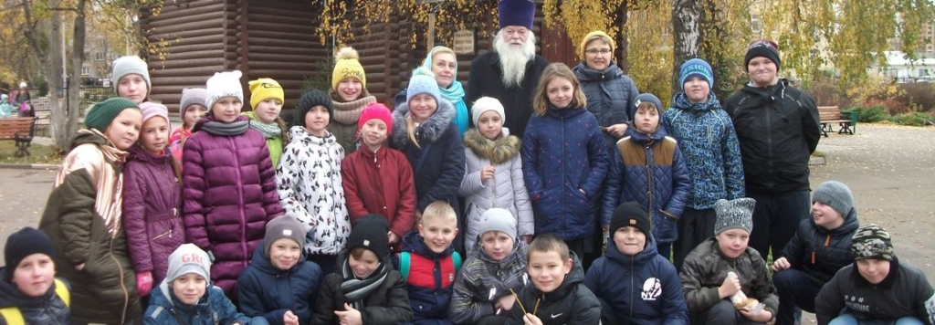 Учащиеся школы №7 г. Жуковского посетили музейный комплекс прихода Пантелеимоновского храма