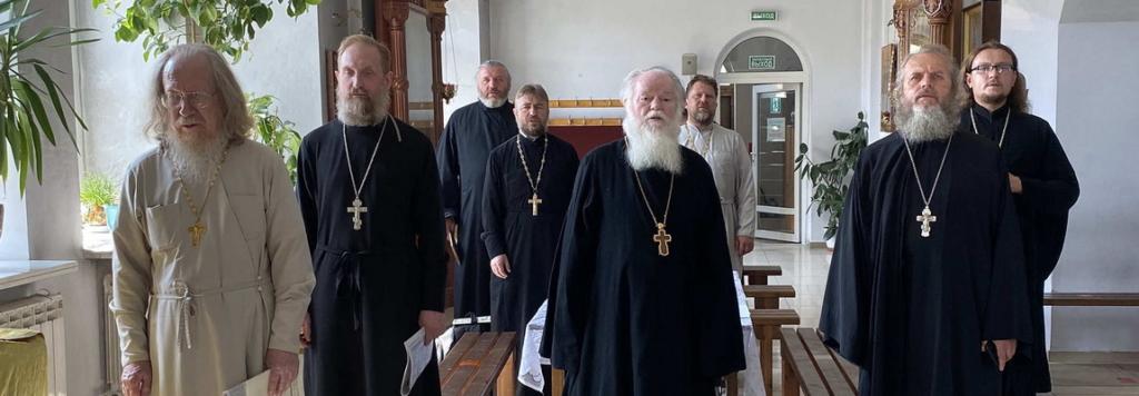 Братское совещание духовенства Жуковского церковного округа.